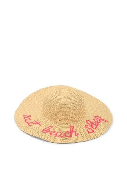 Beach Sleep Graphic Straw Hat, Forever21 $14.90