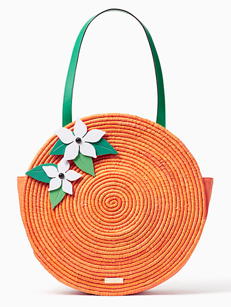 974 974 974 974 Full Screen Zoom spice things up straw orange tote, multi, large spice things up straw orange tote, Kate Spade $199 (SALE)